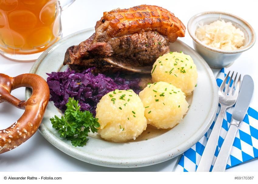Ein bayerischer Schweinebraten mit Bier-Soße
